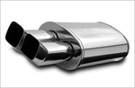 POLISHED STAINLESS MUFFLER WITH TIP