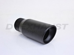 BLACK POWDER COATED 4.00 X 9.00 RESONATED SLANTED TIP