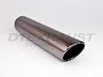 BLACK CHROME 3.50 X 18.00 ROLLED ANGLE