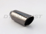 BLACK CHROME 4.00 X 9.00 ROLLED SLANTED TIP