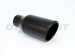 BLACK POWDER COATED 4.00  X  9.00 ROLLED SLANTED TIP ID 2.50