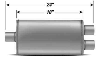 STAINLESS STEEL PERFORMANCE MUFFLER